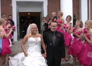 Fun Bubbles as Delanie & TJ Exit The Church