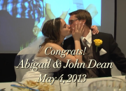 Congrats Abigail & John Dean